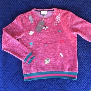 Sweater with embroideries